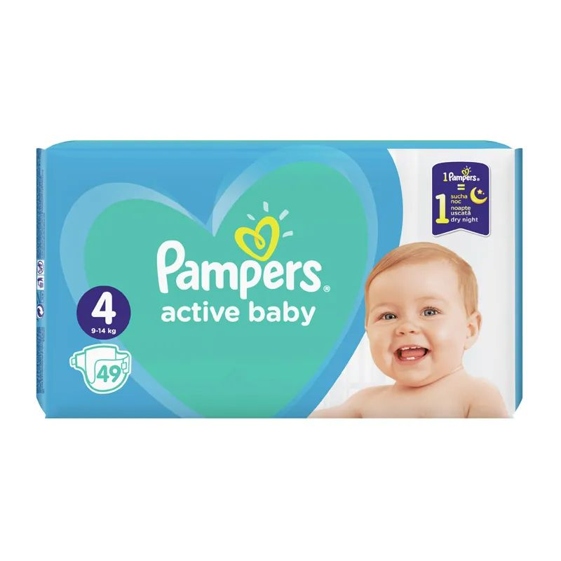 Підгузки Pampers Active Baby Maxi 4 9-14кг, 49шт